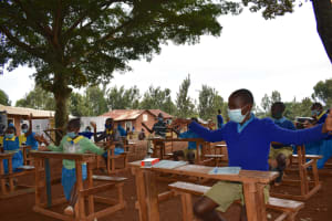 The Water Project: Kitagwa Primary School -  Physical Distancing Check