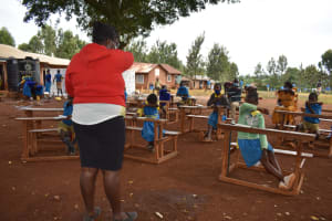 The Water Project: Kitagwa Primary School -  Training On Elbow Coughing