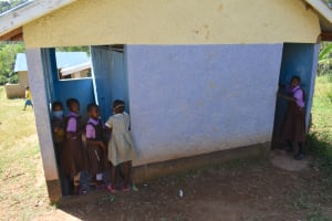 The Water Project: Bahati ADC Primary School -  Pupils At The Latrines
