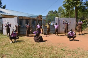 The Water Project: Bahati ADC Primary School -  Pupils Posing At The Gate