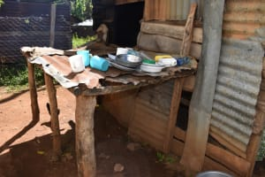 The Water Project: Bahati ADC Primary School -  Dishrack Outside The Kitchen