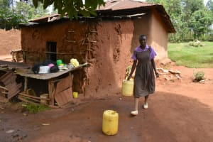 The Water Project: Bahati ADC Primary School -  Fetching Water From Home