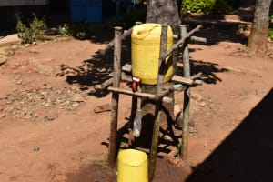 The Water Project: Bahati ADC Primary School -  Handwashing Station With Bottled Soap Attached