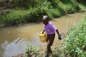 The Water Project: Bahati ADC Primary School -  Leaving The Stream
