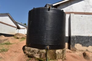 The Water Project: Bahati ADC Primary School -  Small Plastic Rain Tank