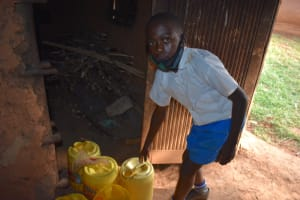 The Water Project: Itabalia Primary School -  Delivering Water To School Kitchen