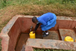The Water Project: Itabalia Primary School -  Fetching Water At The Spring