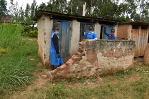 The Water Project: Itabalia Primary School -  Girls At The Latrines