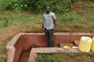 The Water Project: Itabalia Primary School -  Headteacher Jackson Etemesi At The Spring