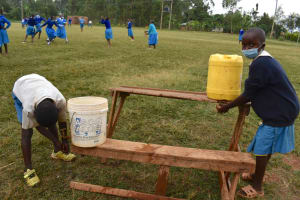 The Water Project: Itabalia Primary School -  Students Washing Hands