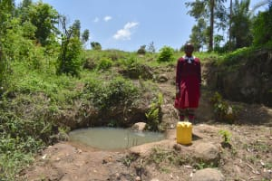 The Water Project: Gimariani Primary School -  Beatrice At The Unprotected Spring