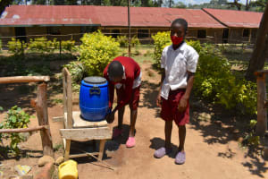 The Water Project: Gimariani Primary School -  Students Handwashing