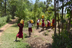 The Water Project: Gimariani Primary School -  Leaving The Unprotected Spring