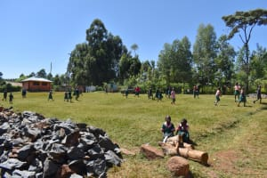 The Water Project: Itieng'ere Primary School -  Students At The Playground