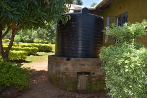The Water Project: Itieng'ere Primary School -  Small Rain Tank At School