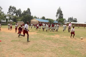 The Water Project: Muriola Primary School -  Children On The Playground