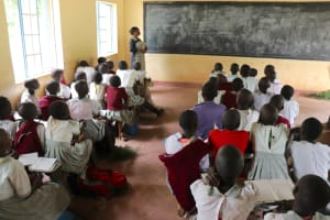 The Water Project: Muriola Primary School -  Madam Clendah Leading A Class