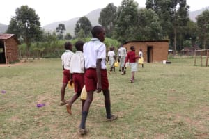 The Water Project: Muriola Primary School -  Taking Water To The Kitchen
