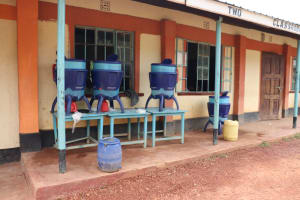 The Water Project: Muriola Primary School -  The Lifestraw Containers Outside The Classroom