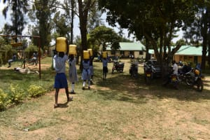 The Water Project: Ebukuya Special School for the Deaf -  Carrying Water