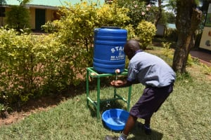 The Water Project: Ebukuya Special School for the Deaf -  Handwashing