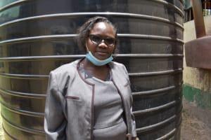 The Water Project: Ebukuya Special School for the Deaf -  Headteacher Lilian Ochieng