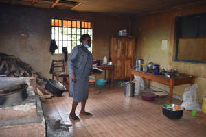 The Water Project: Ebukuya Special School for the Deaf -  Madam Ochieng Showing The Kitchen