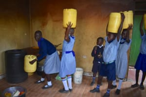 The Water Project: Ebukuya Special School for the Deaf -  Storing Water In The Kitchen