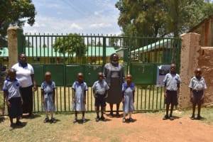 The Water Project: Ebukuya Special School for the Deaf -  Students And Teachers Posing At The Gate