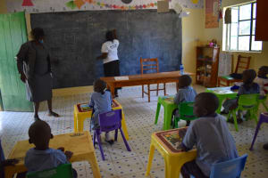 The Water Project: Ebukuya Special School for the Deaf -  Students In Class