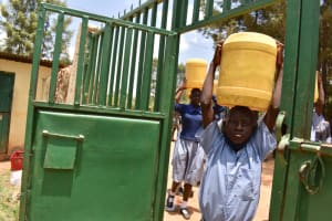 The Water Project: Ebukuya Special School for the Deaf -  Arriving At School With Water