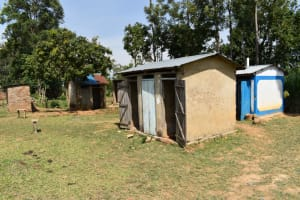 The Water Project: Namushiya Primary School -  Boys Latrine Block