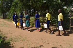The Water Project: Namushiya Primary School -  Carrying Water