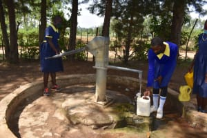 The Water Project: Namushiya Primary School -  Collecting Water