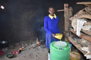 The Water Project: Namushiya Primary School -  Sharon Adds To The Water Storage