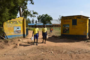 The Water Project: Namushiya Primary School -  Going Out To Fetch Water