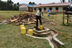 The Water Project: Salvation Army Matioli Secondary School -  Fetching Water