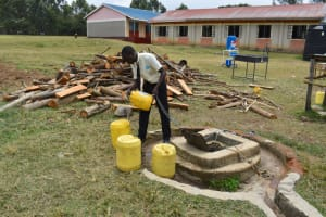 The Water Project: Salvation Army Matioli Secondary School -  Fetching Water From The Well
