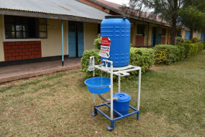 The Water Project: Salvation Army Matioli Secondary School -  Handwashing Station With Soap