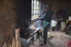 The Water Project: Salvation Army Matioli Secondary School -  School Cook Making Ugali