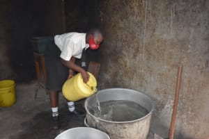 The Water Project: Salvation Army Matioli Secondary School -  Water Collection Area In School Kitchen
