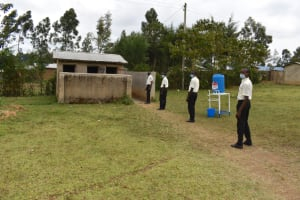 The Water Project: Salvation Army Matioli Secondary School -  Boys Lined Up At Latrines