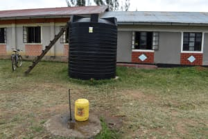 The Water Project: Salvation Army Matioli Secondary School -  Standpipe Fed By Small Rain Tank