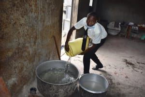 The Water Project: Salvation Army Matioli Secondary School -  Storing Water In Kitchen Pots