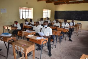 The Water Project: Salvation Army Matioli Secondary School -  Students In Class