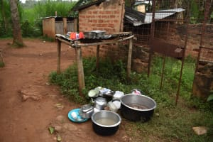 The Water Project: Friends Mudindi Village Primary School -  Dishrack