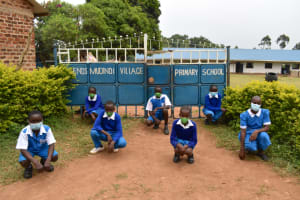 The Water Project: Friends Mudindi Village Primary School -  Posing At The School Gate