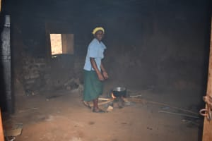 The Water Project: Friends Mudindi Village Primary School -  School Cook At Work Inside The Kitchen