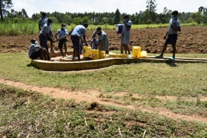 The Water Project: St. Elizabeth Shipala Primary School -  Collecting Water