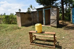 The Water Project: St. Elizabeth Shipala Primary School -  Handwashing Station At The Latrines